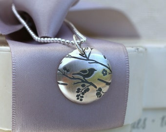 """Sterling Songbird necklace - Sterling 18"""" chain"""