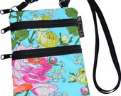 Ella Bella Purse - Cross body Purse - 3 Zippered Pocket - Adjustable Strap - Washable - FAST SHIPPING - Cell Phone Purse - Sketchbook fabric