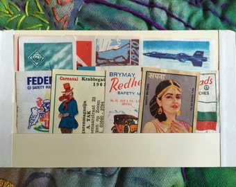 Vintage Colorful Matchbox Labels from Around the World