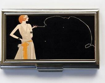 Art Deco Flapper Business Card Holder Card Case
