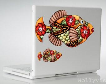 Fish Decal Trigger Fish Hawaiian Decal Humuhumunukuapuaa Hawaii MacBook sticker