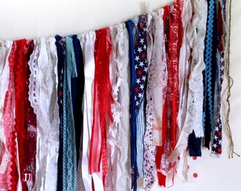 custom fabric strip bunting,  your color choices, made to order, eco friendly garland, photo prop, rag tie scrappy banner, boho party decor