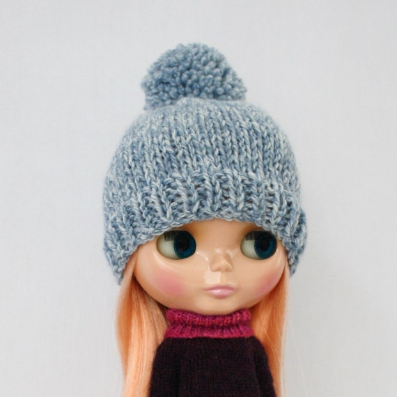 Knit Beanie Pattern Worsted Weight : Meg Bobble Hat for Blythe knitting PATTERN worsted weight ...