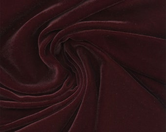 Beautiful Silk Velvet Fabric Eggplant