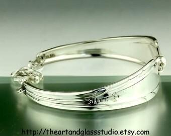 Silver Spoon Bracelet LYNNWOOD (aka MEMORY) Jewelry Vintage, Silverware, Gift, Anniversary, Wedding, Birthday
