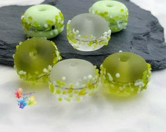 Lampwork Beads Apple Tree Blossom Mix