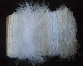 Yarn Bundle White Scrap Yarn Art Fiber Scraps 1314
