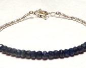 Blue Sapphire Bracelet, Sapphire Jewelry, September Birthstone Bracelet, September Bracelet, September Jewelry, Karen Hill Bracelet