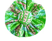 FABRIC FLOWER Add on: Made from Lilly Pulitzer Chomp Chomp Fabric