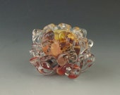 1 boro/borosilicate handmade artisan lampwork glass bead, Redside Designs, SRA