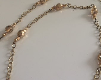 Golden daylight necklace