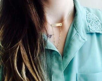 B A R necklace - Gold
