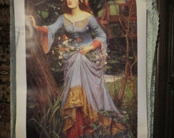 "ON SALE John William Waterhouse Ophelia Art Print 22x35"" Heavy Stock Paper"