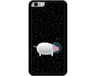 Phone Case - Pig In Space - Hard Case for iPhone 4, 4s, 5, 5s, 5c, 6, 6 Plus - iPod Touch 4, 5 - Galaxy S3, S4, S5