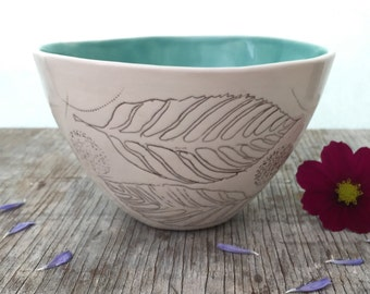 Madrone Leaf Porcelain Bowl