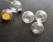 5 Glass Hollow Blown Globe Beads 20mm