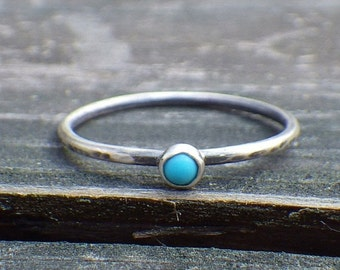 20% OFF TODAY - Sleeping Beauty Turquoise Sterling Silver Ring ... Tiny turquoise  ring dainty turquoise ring stacking ring