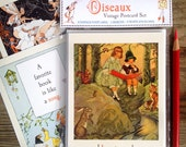 Vintage Postcard / Notecard Set, Stocking Stuffer, Children's Gift