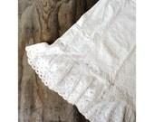 Antique Cotton Slip - Petticoat - Large