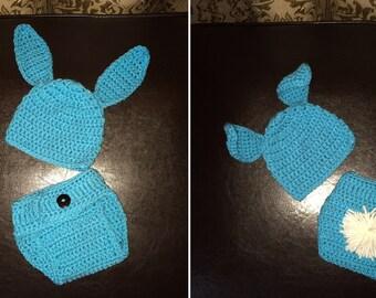 Crocheted Little Bunny Set