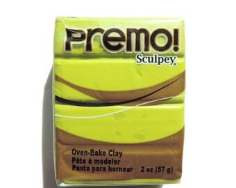 2 ounce Premo! Sculpey Polymer Clay Wasabi Green