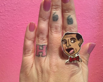 Pee Wee Herman Shrinky Dink Ring