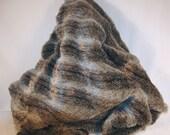 """Gray  Striped Faux Fur 65""""W x 51""""L"""