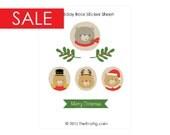 SALE 50% OFF Holiday Bear Sticker Sheet