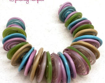 colorful disc Lampwork beads, Glass beads , lampwork glass beads,lampwork,  lampwork bead,handemade beads, lampwork  Lampwork beads SRA