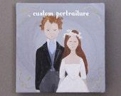 custom wedding portrait | original painting | art | couple portrait | engagement portrait | wedding | bridal portrait | anniversary | family
