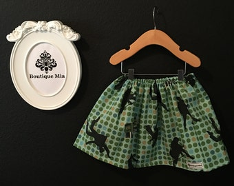 Will fit Size 12-24 month to 4T - READY to MAIL - Children Skirt - Elvis - by Boutique Mia and More
