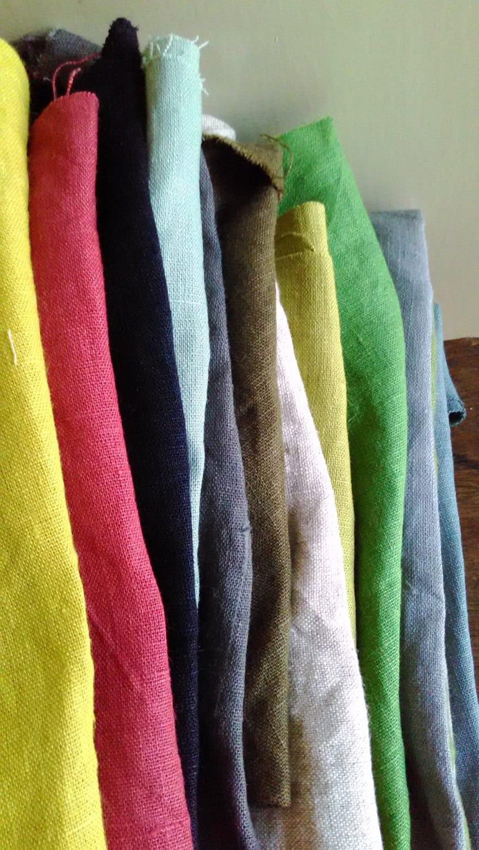Linen bundle linen scraps remnants linen fabric for Fabric remnants