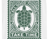 Turtle Shower Curtain, All Good Things Take Time
