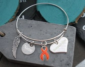 Remembrance Memorial Jewelry, In Loving Memory, Mother Father Sister Brother Grandma - Multiple Sclerosis Leukemia Self HarmAwareness #Q8