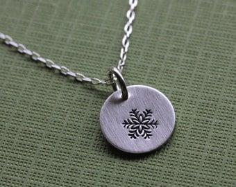 Delicate Snowflake Necklace