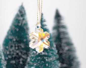 Christmas Tree Ornament - Crystal Snowflake Ornament - Christmas Decoration - Christmas Stocking Stuffer - Gift For Woman