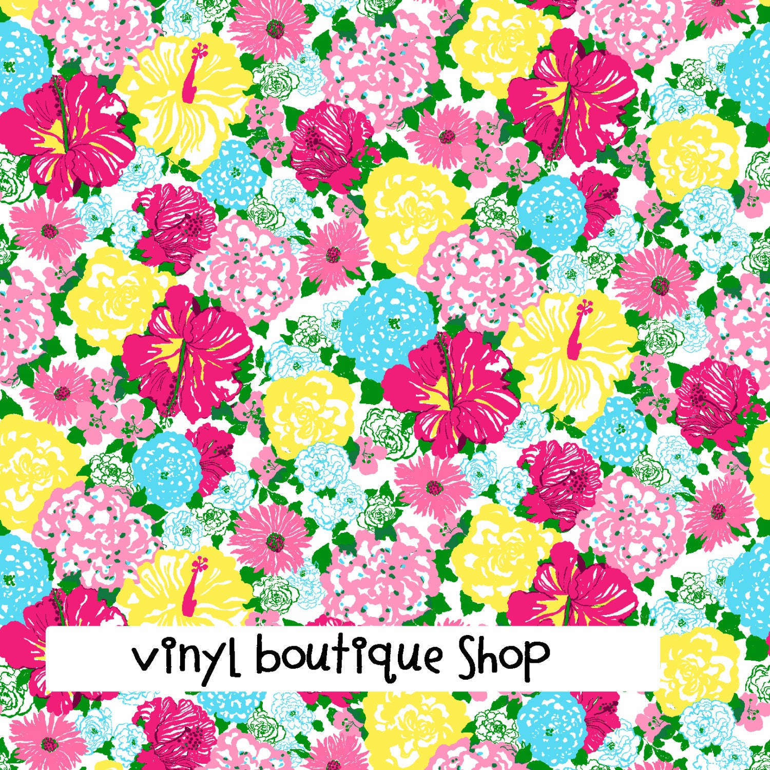Heritage Floral Lilly Inspired Htv Pattern Vinyl Sheet Size