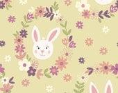 Bunny Garden from Lewis & Irene LTD, Bunny Wreaths on Sunshine yellow, yard