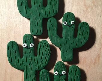 Happy Saguaro cactus magnet