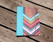 Wood Chevron Vertical Everyday Planner - Any Start Month - Ready To Ship!
