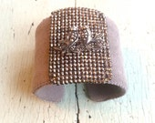 Love Birds Adjustable Cuff in Silver and Grey