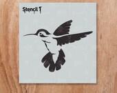 "Humming Bird Stencil- Reusable Craft & DIY Stencils- S1_01_51_S -Small-(5.75""x6"")- By Stencil1"