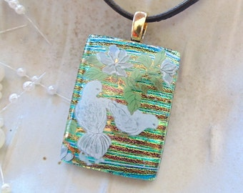 Dichroic Glass Pendant, Necklace, Fused Jewelry, Necklace Included, A5