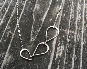 3 tear drop necklace