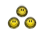 """Sit On A Happy Face - 1"""" Pin Back Button, Novelty Scumbag 70s Biker Pinback Button"""