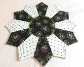 Irish Reversible Candle Mat; Miniature Quilt; Small Quilt;Table mat