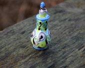 Miniature Green Genie Bottle