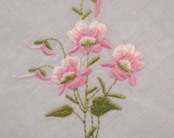 Seven Vintage Hankies/ Handkerchiefs - White Embroidered Handkerchiefs