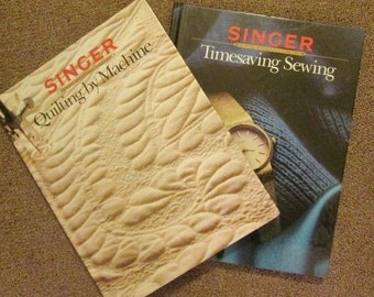 Two Vintage Hardcover Sewing Books - Singer Reference Library