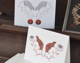 Rose Mice Note Cards